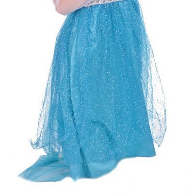 Karnevalový kostým princezna Elsa modrý - XS, XS - 4