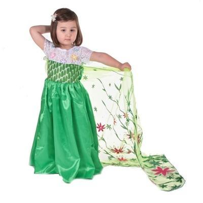 Karnevalový kostým princezna Elsa zelený - 4