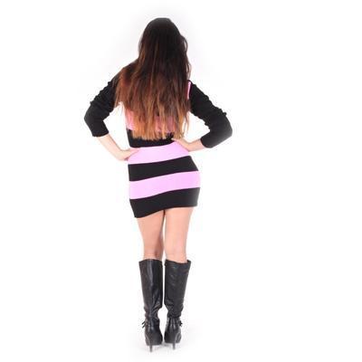 Luxusní růžový pulovr Tereza s rolákem - 4