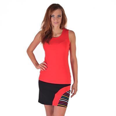Moderní černá sukně s potiskem Rose - 5