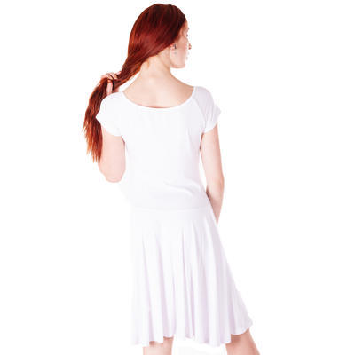 Bílé jednobarevné šaty Zaira - 5
