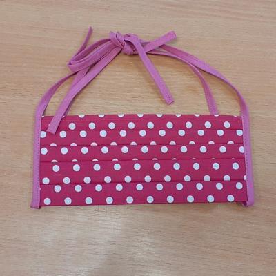 Růžová kolová sukně Adel s puntíky - 5
