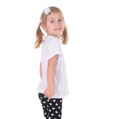 Dětské tričko krátký rukáv Laura bílé od 98-116 - 5