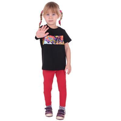 Červené dětské legíny Cruso od 98-116  - 5