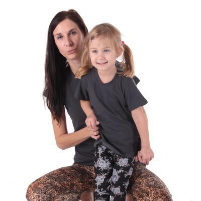 Šedé dětské tričko krátký rukáv Laura od 98-116 - 5