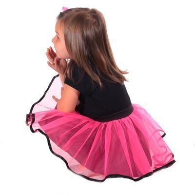 Dívčí tylová tutu sukně Nesy neonově růžová - 5