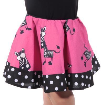 Dívčí kolová sukně Zebra - 5