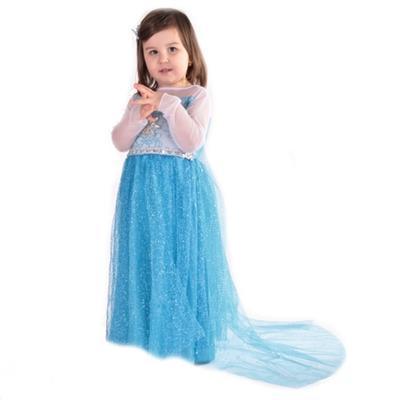 Karnevalový kostým princezna Elsa modrý - XS, XS - 5