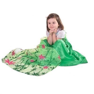 Karnevalový kostým princezna Elsa zelený - 5