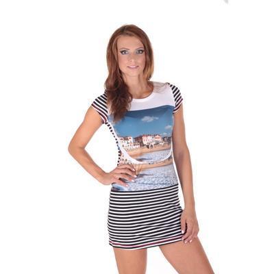 Pruhované dámské letní šaty Landy - 6