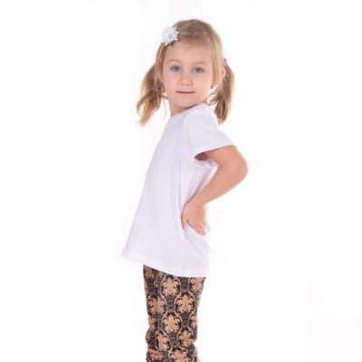 Dětské tričko krátký rukáv Laura bílé od 98-116 - 6