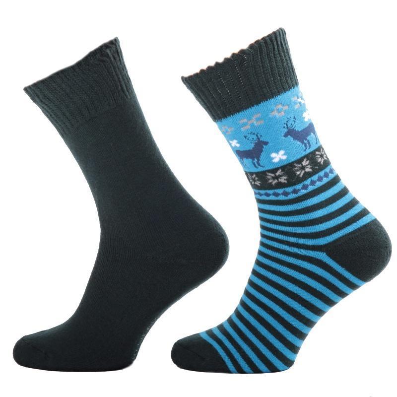 62b292bbcc0 Zimní ponožky s norkým vzorem S1 modré 35-38 35-38 - Afrodit.cz