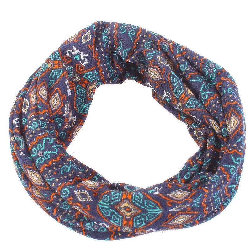 e70a7df9ef2 Indický šátek Terry tunel modrý - Afrodit.cz