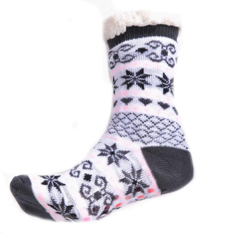 ea1ba33912f Zimní ponožky Vločky s norským vzorem šedé 39-42 39-42 - Afrodit.cz