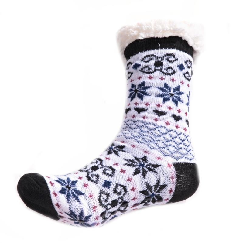 fc264774268 Zimní ponožky Vločky s norským vzorem černé 35-38 35-38 - Afrodit.cz