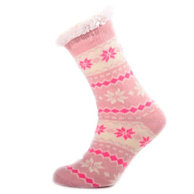 bde06a72890 Zimní ponožky Snow s norským vzorem světle růžové 35-38 35-38 ...